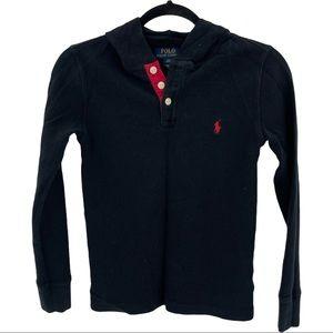 Polo Ralph Lauren Boys Waffle Knit Pullover Shirt